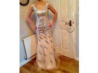 champagne / diamanté evening gown / prom / graduation / wedding