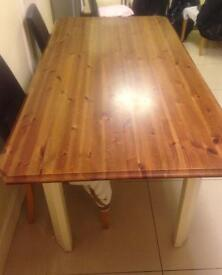 Large 6 seater dining table