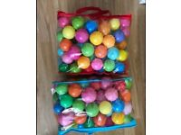 Two bags of 200 colourful pit balls ......smoke free home