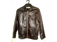*** Genuine Dark Brown Female Leather Jacket ***