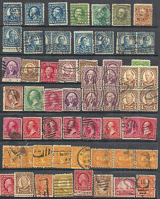 Stamp collect from 1898 #283 10¢, #284-15¢ Clay, blocks