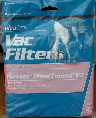 (Hoover WindTunnel V2 Vac Filter - Final Filter - Pack of 2- BRAND NEW IN PACKAGE)