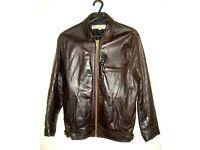 ****Genuine Dark Brown Female Leather Jacket***