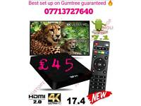 2018 W95 4K UHD tv box with perfect click & play set up for the perfect entertainment bundle