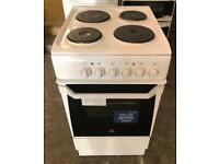 INDESIT WHITE ELECTRIC COOKER WITH WARRANTY & FREE DELIVERY