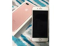 Under 3 months old Iphone 7 plus 32gb rose gold unlocked