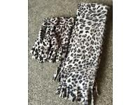 Animal Print Scarf & Gloves