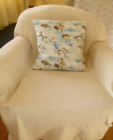 Two Matching Armchairs - FREE - Can be used with throws (included) or recovered..