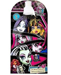 Monster High Classic Designed Exclusive Reusable Eco-friendly Collapsible Kids Water Bottle 380ml Sans BPA Free