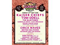 Sunday Sessions ticket, Earlham Park, Norwich