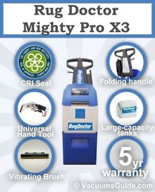 Rug Doctor Mighty Pro X3 Carpet Cleaner BRAND NEW - 5 year warranty with tools