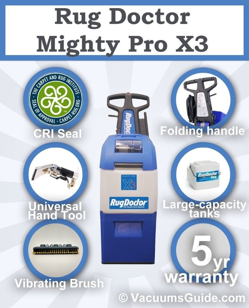 Rug Doctor Mighty Pro X3 Carpet Cleaner Brand New 5 Year