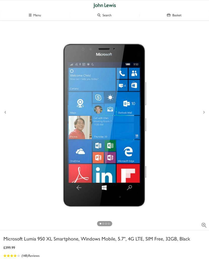 "MICROSOFT LUMIA 950 XL SIM FREE SMARTPHONEin Forest Gate, LondonGumtree - MICROSOFT LUMIA 950 XL SIM FREE SMARTPHONE FREE GEL CASE TEMPERED GLASS SCREEN PROTECTORLIKE NEW CONDITION BOXED WITH USB TYPE C CHARGER5.7"" Quad HD Amoled Display 2560x144020mp Camera3GB Ram32GB storage, Micro SD Card slot (up to 256GB)3300mAh..."