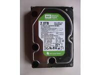 Hard Drive Western Digital WD20EARS-00MVWB0 2TB SATA 3.5 HDD 64Mb Cache Power On: 123 Hours