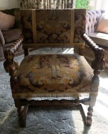 REDUCED- Antique Masters Chair Decorative