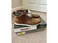 Mens Skechers Streetwear Air-Cooled Leather Boots, Brand New in Box,
