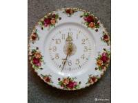 Royal Albert Old Country Roses Wall Clock