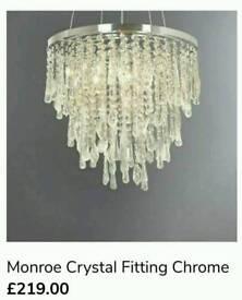 Monroe Crystal Chrome Chandelier   in Wood Green, London   Gumtree