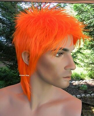 ROD Wig . Bright Orange . UNISEX WIG ...  Way Cool!  Rod Stewart / David Bowie - David Bowie Wigs