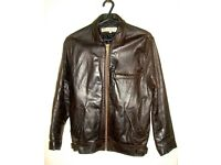 ****Genuine Dark Brown Female Leather Jacket***