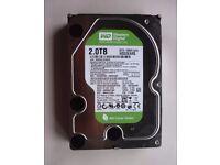 Hard Drive Western Digital WD20EARS-00MVWB0 2TB SATA 3.5 HDD 64Mb Cache