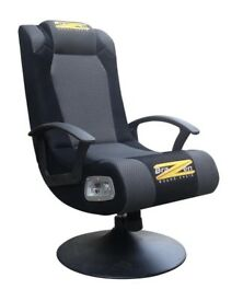 BraZen Stag 2.1 Bluetooth Surround Sound Gaming Chair - Black.