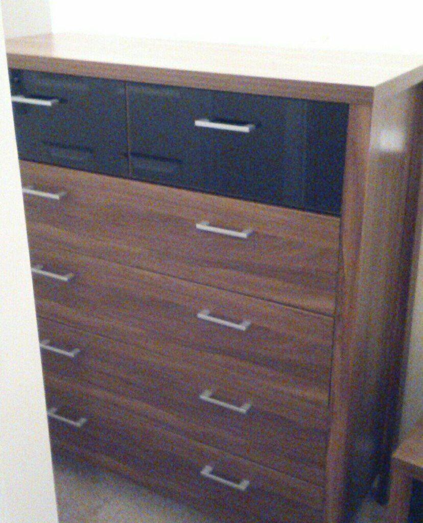 large walnut bedroom set black gloss