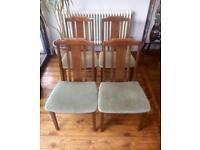 G Plan dining chairs x4