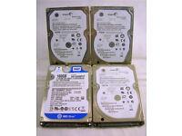 "x4 (2.5"") Hard Drives 160GB Internal 5400 RPM 6.35 cm (WH_2588)"