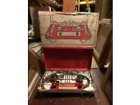 Vintage Tilley fold up and carry butane gas camping stove