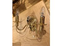 4 beautiful brass ceiling and wall candelabra lights