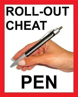 Roll Out Cheat Note Pen For Exams    Student Cheating Pen   See Video