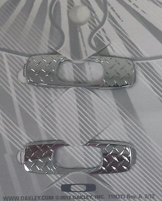New Oakley Batwolf Sunglasses Replacement Icons Chrome Diamond Plate - Authentic
