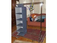 Clothes rail with hanging storage