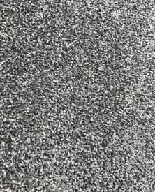 New grey twist pile carpet