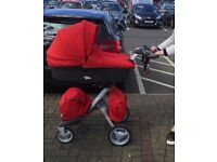 STUNNING STOKKE XPLORY V3 RED FULLY LOADED TRAVEL colection only £400