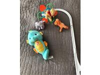 Baby mobile and glow worm
