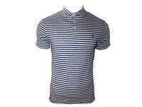 Polo Ralph Lauren Mens Short Sleeve Striped Mesh Top Tee T-shirt TW46