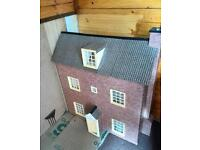 Very large handmade dolls house lights up gwo