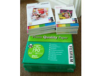 JOB LOT OF PHOTO QUALITY INKJET PAPER A4 6X4 7X5 GLOSSY