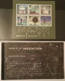 Royal Mail 'World of Invention' Prestige Book and Miniature Sheet