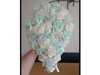 mint green and ivory teardrop bouquet
