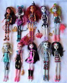 Toralei, Cleolei, Catrine... Monster High dolls from £6 each