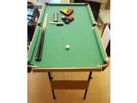 Folding Pool / Snooker Table 140cm x 75cm
