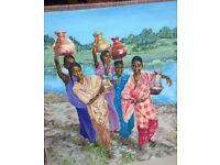 Oil painting - African Ladies