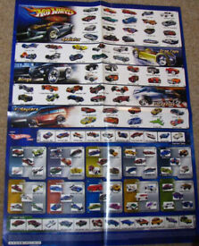 Hot Wheels Cars poster from 2005 shows all cars for the year. Great guide for collecting.