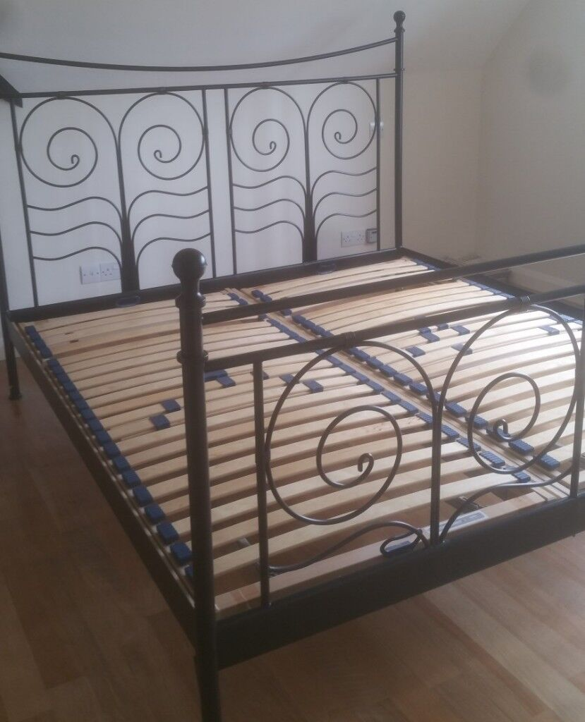 more photos 35e88 88e6c Ikea Noresund double bed frame and slats | in Guildford, Surrey | Gumtree