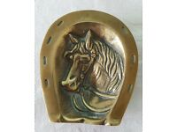 Brass Horse / Horseshoe Ornamental Bowl