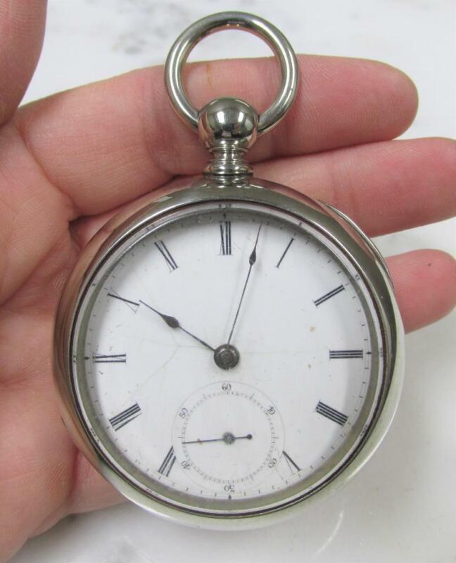 Vintage Metropolitan Watch Co. Key Wound Pocket Watch w/ Silveroid Case ~ 1-D158