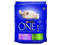 Purina ONE Sensitive Turkey & Rice Dry Cat Food 800g